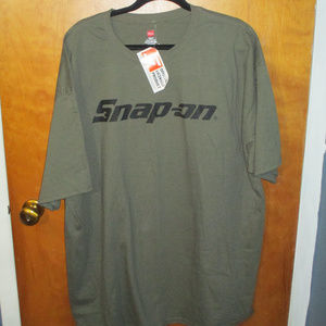 Snap-on Support Our Troops Army Green Shirt 2XL